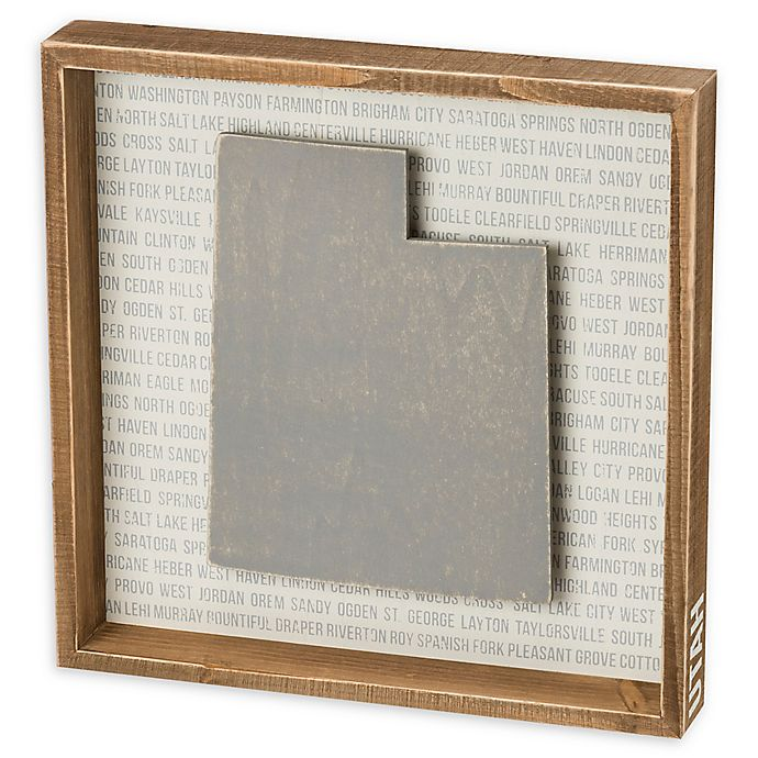 Alternate image 1 for Primitives by Kathy® 12-Inch x 10-Inch Utah Wood Wall Art
