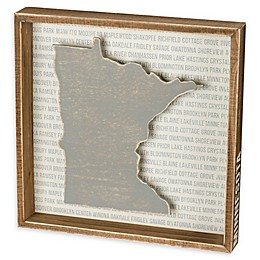 Primitives by Kathy® 12-Inch x 12-Inch Minnesota Wood Wall Art