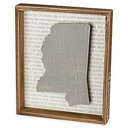 Primitives by Kathy® 12-Inch x 10-Inch Mississippi Wood Wall Art