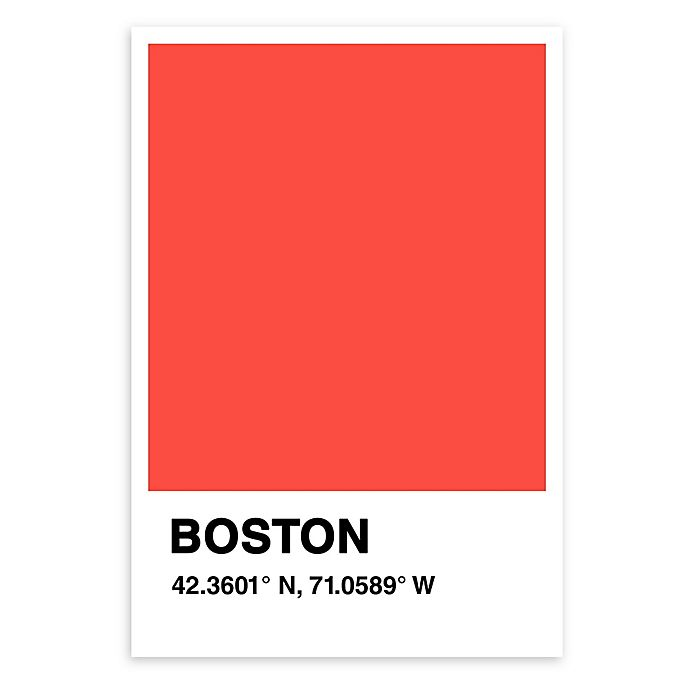 Alternate image 1 for Boston Color Swatch Print Wall Art in Orange