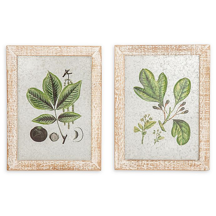 Alternate image 1 for 12-Inch x 16-Inch Framed Wall Art in Brown/green Set of 2