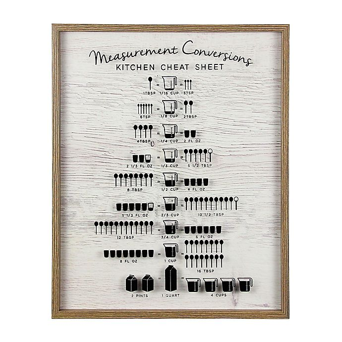 Ethan Kitchen Measurement Conversion Wood Wall Art | Bed ...