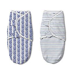 SwaddleMe® Original Luxe Watercolor Small/Medium 2-Pack Organic Cotton Swaddles in Indigo