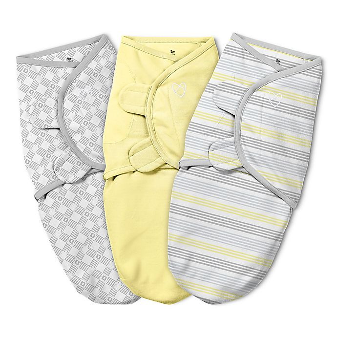 Alternate image 1 for SwaddleMe® 3-Pack Mellow Striped Original Swaddle