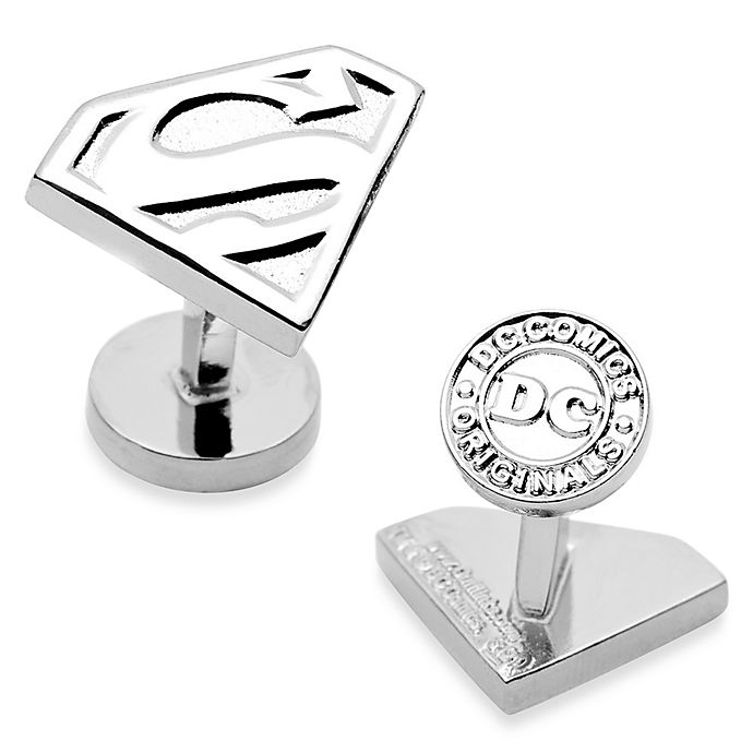 Alternate image 1 for DC Comics Silver-Plated Superman Shield Cufflinks
