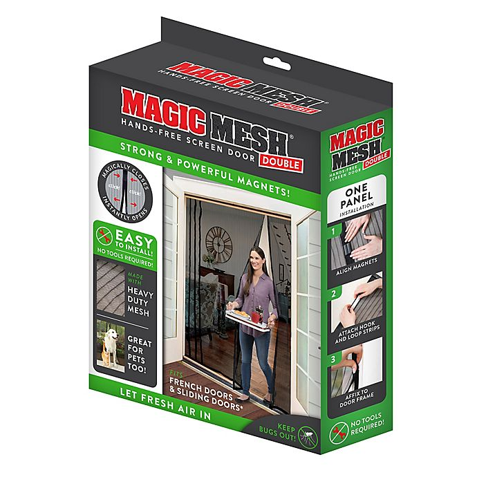 Alternate image 1 for Magic Mesh Double Screen Door