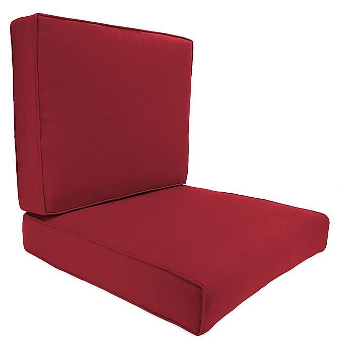 Cool Solid 2 Piece Deep Seat Boxed Edge Chair Cushion In Bralicious Painted Fabric Chair Ideas Braliciousco