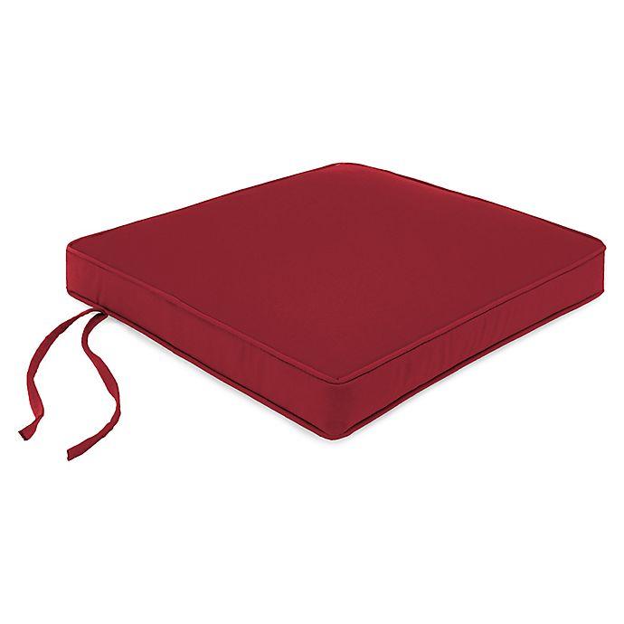 Alternate image 1 for Solid Square Boxed Seat Cushion in Sunbrella® Fabric