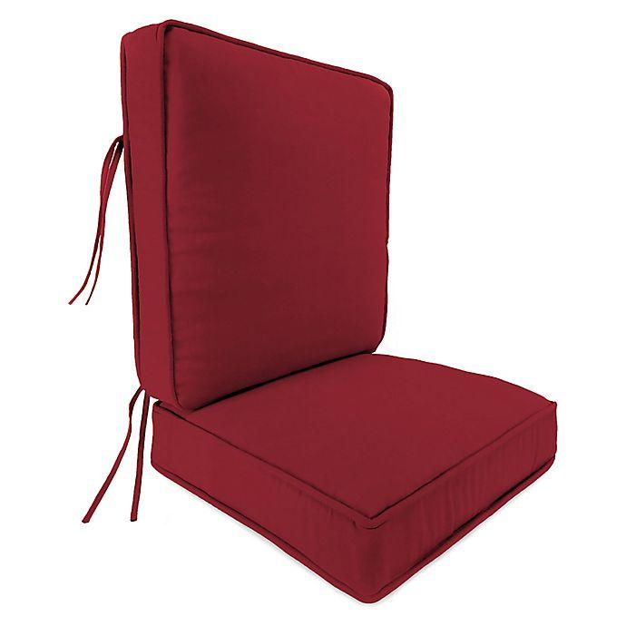 2 Piece Deep Seat Boxed Edge High Back Chair Cushion In Sunbrella
