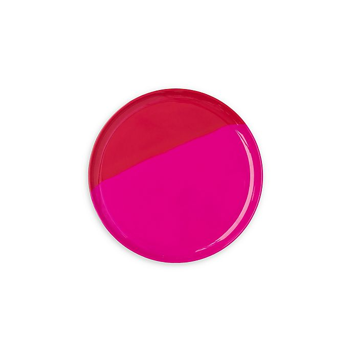 Alternate image 1 for Thomas Fuchs Creative Melamine Appetizer Plates in Fuchsia & Red (Set of 4)