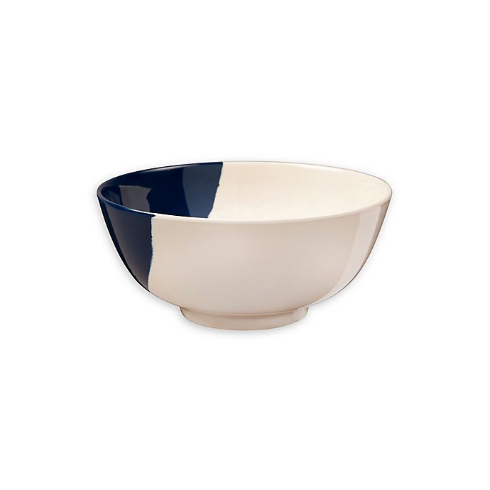 Alternate image 1 for Thomas Fuchs Creative Melamine Cereal Bowls in Ivory & Navy (Set of 4)