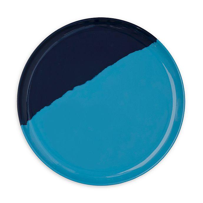 Alternate image 1 for Thomas Fuchs Creative Melamine Dinner Plates in  Light Blue & Navy (Set of 4)
