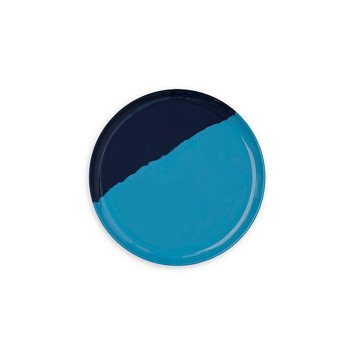 Alternate image 1 for Thomas Fuchs Creative Melamine Appetizer Plates in Light Blue & Navy (Set of 4)