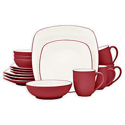 Noritake® Colorwave Square 16-Piece Dinnerware Set in Raspberry