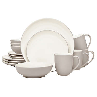 Noritake® Colorwave Coupe 16-Piece Dinnerware Set in Sand