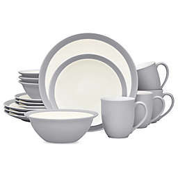 Noritake® Colorwave Curve 16-Piece Dinnerware Set in Slate