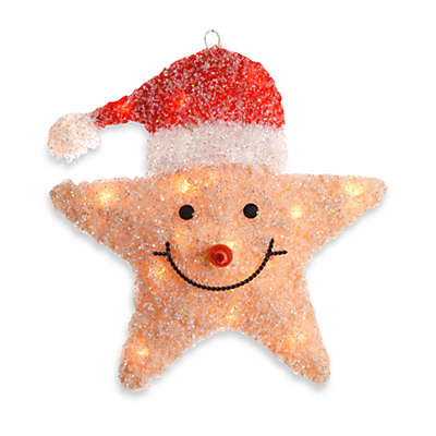 National Tree Company 18-Inch Pre-Lit Smiling Yellow Star Decoration