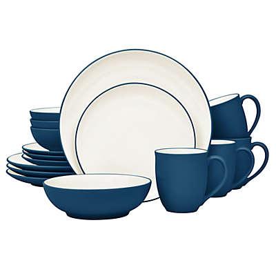 Noritake® Colorwave Coupe 16-Piece Dinnerware Set in Blue