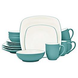 Noritake® Colorwave Square 16-Piece Dinnerware Set in Turquoise