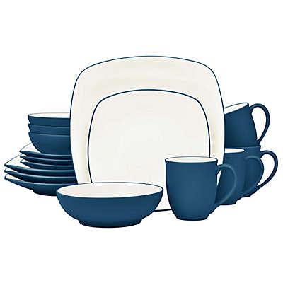 Noritake® Colorwave Square 16-Piece Dinnerware Set in Blue