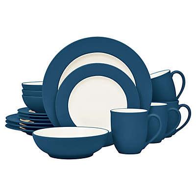 Noritake® Colorwave Rim 16-Piece Dinnerware Set in Blue