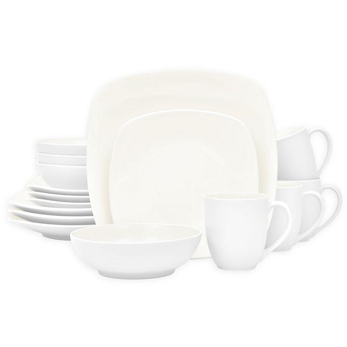 Alternate image 1 for Noritake® Colorwave Square 16-Piece Dinnerware Set in White