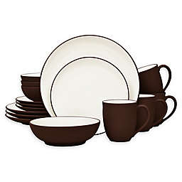 Noritake® Colorwave Coupe 16-Piece Dinnerware Set in Chocolate