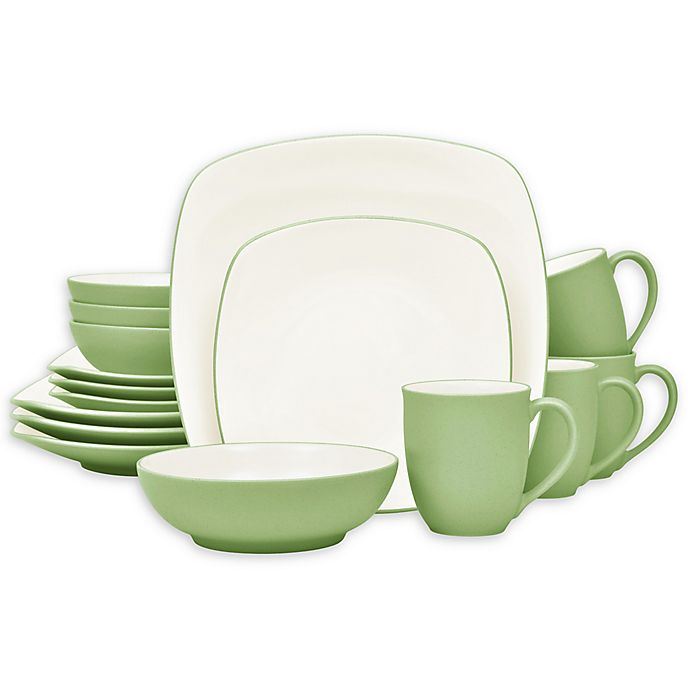 Alternate image 1 for Noritake® Colorwave Square 16-Piece Dinnerware Set in Apple