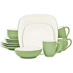 Noritake® Colorwave Square 16-Piece Dinnerware Set in Green Apple