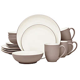 Noritake® Colorwave Coupe 16-Piece Dinnerware Set in Clay
