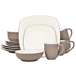 Noritake® Colorwave Square 16-Piece Dinnerware Set in Clay