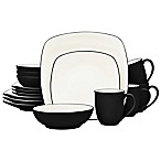 Noritake® Colorwave Square 16-Piece Dinnerware Set in Graphite