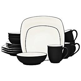 Noritake® Colorwave Square 16-Piece Dinnerware Set in Graphite