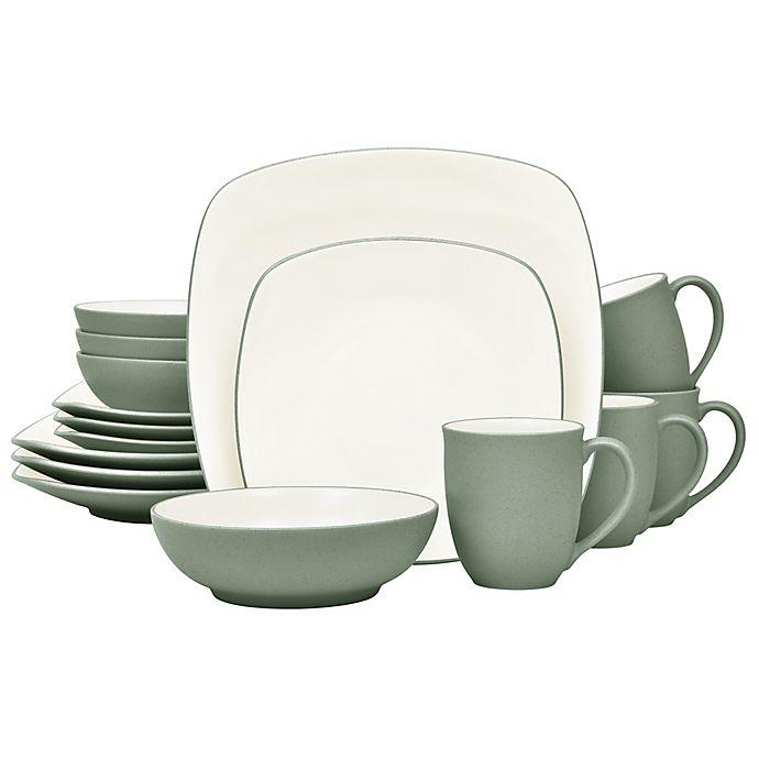 Alternate image 1 for Noritake® Colorwave Square 16-Piece Dinnerware Set in Green
