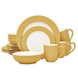 Noritake® Colorwave Rim 16-Piece Dinnerware Set in Mustard