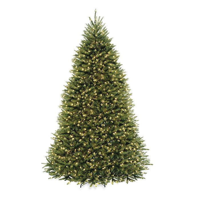 Alternate image 1 for National Tree Company Dunhill Fir Pre-Lit Christmas Tree with Clear Lights