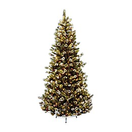 National Tree Company 7-Foot 6-Inch Glittery Bristle Pine Pre-Lit Christmas Tree with Clear Lights