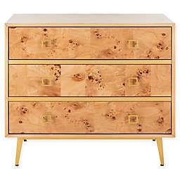 Safavieh Katia 3-Drawer Chest in Natural/Gold
