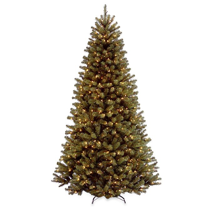 Alternate image 1 for National Tree Company 7-Foot 6-Inch North Valley Spruce Pre-Lit Hinged Christmas Tree w/Clear Lights