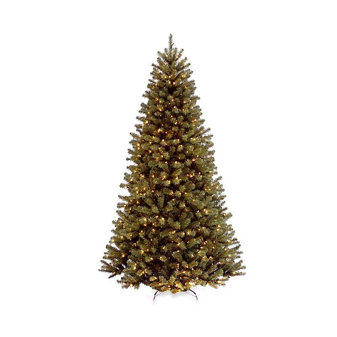Alternate image 1 for National Tree Company North Valley Spruce Pre-Lit Hinged Christmas Tree with Clear Lights