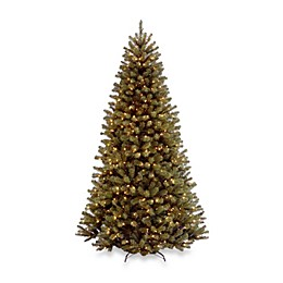National Tree Company 7-Foot 6-Inch North Valley Spruce Hinged Christmas Tree with Dual-Color LEDs