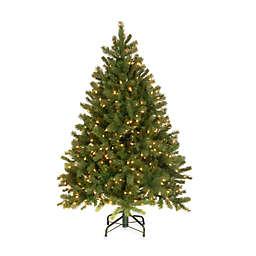 National Tree Company 4.5-Foot Downswept Douglas Fir Pre-Lit Christmas Tree with Clear Lights