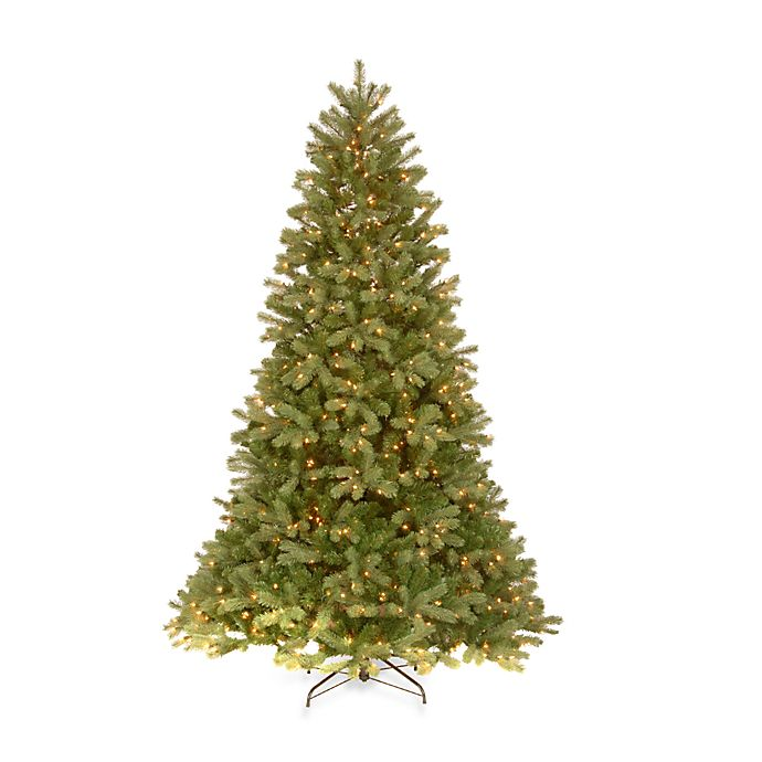 Alternate image 1 for National Tree Company 6.5-Foot Downswept Douglas Fir Pre-Lit Christmas Tree with Clear Lights