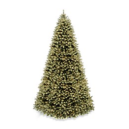 National Tree Company 12-Foot Downswept Douglas Fir Pre-Lit Christmas Tree with 1200 Clear Lights