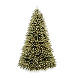 National Tree Company 7-Foot 6-Inch Feel-Real Down Swept Douglas Fir Christmas Tree w/Clear Lights