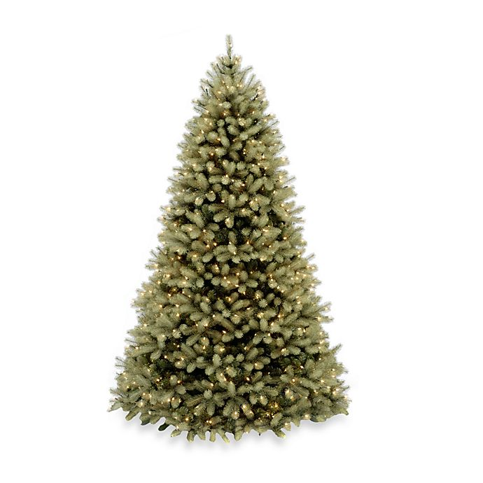 Alternate image 1 for National Tree Company 7-Foot 6-Inch Feel-Real Down Swept Douglas Fir Christmas Tree w/Clear Lights