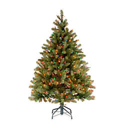 National Tree Company 4.5-Foot Douglas Fir Pre-Lit Christmas Tree with Multicolor Lights