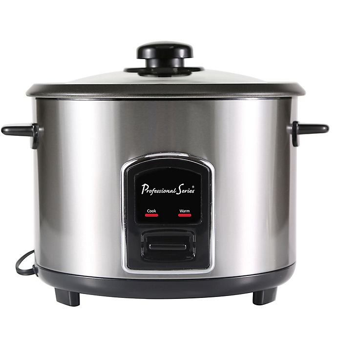 Alternate image 1 for Professional Series® 12-Cup Stainless Steel Rice Cooker