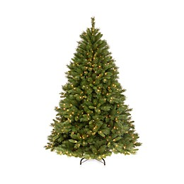 National Tree Company 7-Foot 6-Inch Winchester Pine Pre-Lit Christmas Tree with Clear Lights