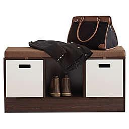 ORG 3-Cube Storage Bench in Espresso